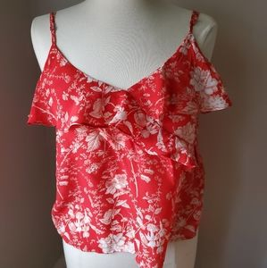 Lucky Brand Silk Ruffled Cami Small